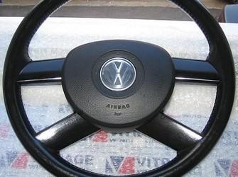 Volan piele 4 spite + airbag polo , touran 02-08