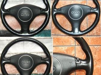 Volan piele+comenzi si airbag 3 spite audi a3,a4,a6,tt 01-05