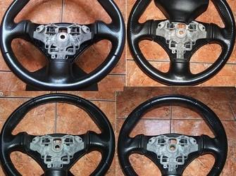 Volan piele neagra peugeot 206 si 206 cc 2001-2009