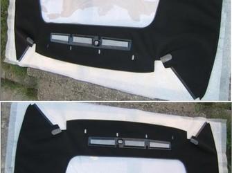Prelata cu geam folie spate smart fortwo cabrio 2001-2006