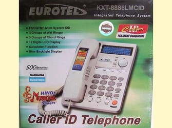 Telefon eurotel analogic digital display calculator speaker